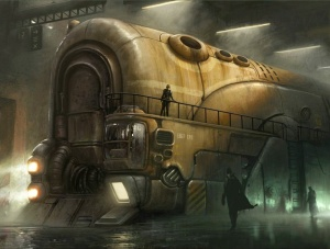 The train from the cover of Hearts of Iron