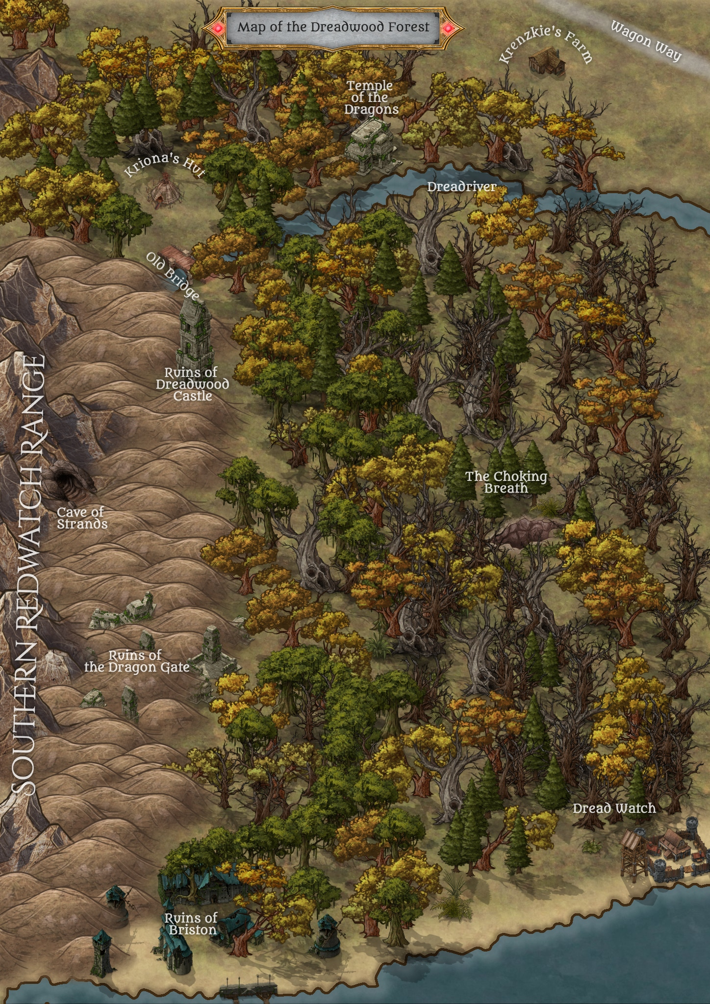Map of Dreadwood